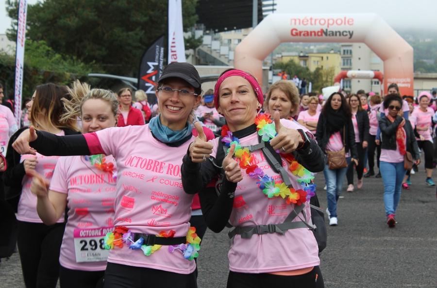 Octobre Rose: Près de 6 500 participantes àNancy